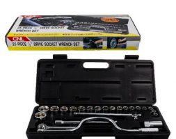 Toolset and socket metal 10-32mm 25pce