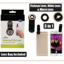 Mobile phone clip-on lens universal