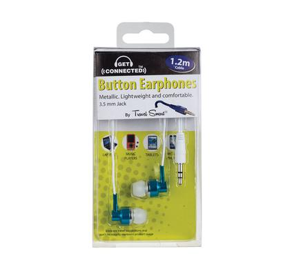 004-078993 Metallic button earphones