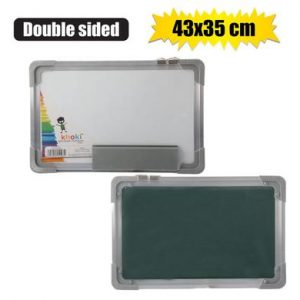 double sided white and chalk board
