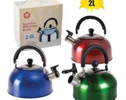 Camping / Gas kettle with whislte 2.0l