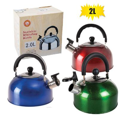 gas or camping 2.0l kettle with whistle