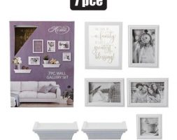 Picture frame set with shelves 7pce