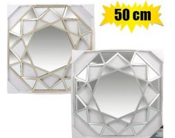 Wall decorative mirror geometric shape 50cm