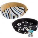 Pet bed fleece with sides 50x50x17.5cm