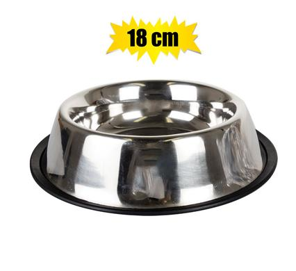 pet cat or dog bowl stainless steel 18cm
