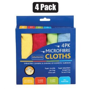 micro fibre cloths 4 pack