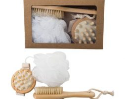Bath wooden gift set 3pce