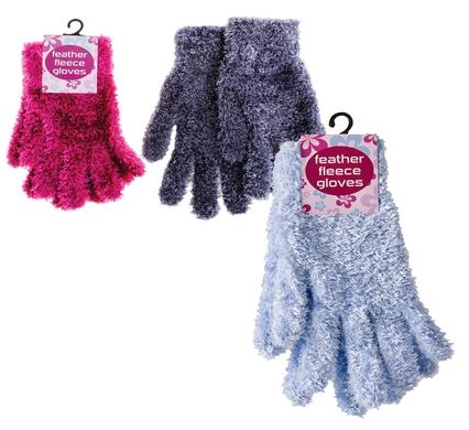 ladies feather soft gloves