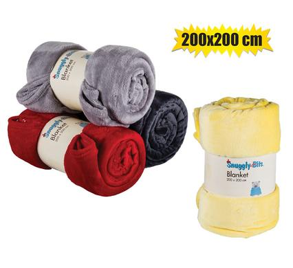 Blanket flannel fleece 200x200cm