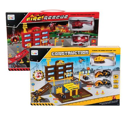 boys playset fire rescue or construction