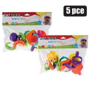 baby 5 piece rattle set