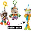 Baby soft musical pram toy