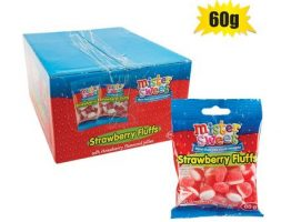 Mister Sweet Strawberry Fluffs 24x60g