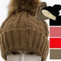 Faux Fur lined ladies knitted beanie