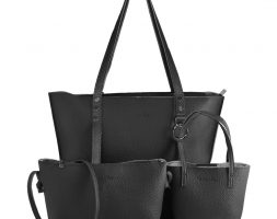 Urban Muse Berlin 3 piece tote set Black