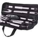 5 Piece stainless steel braai set